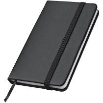 Libreta de notas con hojas rayadas negra