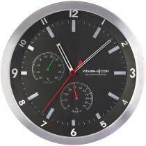 Reloj de pared redondo metálico de 35 cm de diámetro personalizado negro