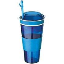 Taza con compartimento aperitivos azul