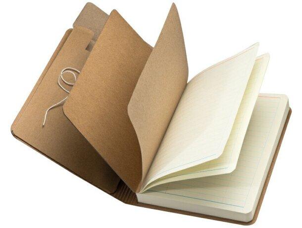 Cuaderno de Nota con Goma Marrón Y 120 Hojas grabado