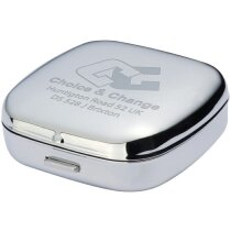 Reloj de viaje despertador personalizado plata