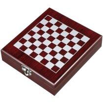 Lujoso set de vino con juego de ajedrez barato marron