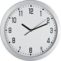 Reloj de pared analógico 30 cm de diámetro personalizado blanco