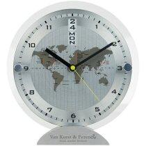 Reloj de escritorio de lujo personalizado plata