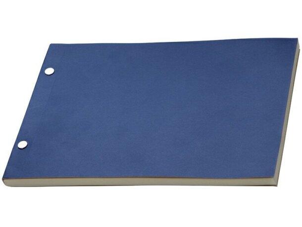 Bloc de notas con 160 hojas merchandising azul