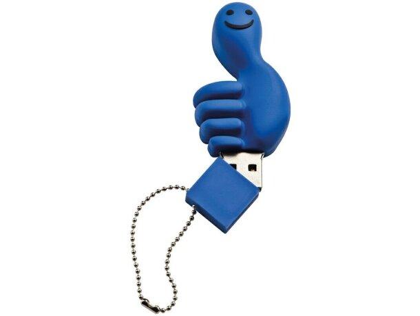 Memoria usb 8gb en forma de mano azul barato