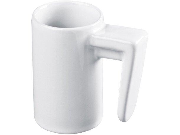 Taza de café expres delgada blanca