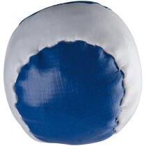 Pelota antiestrés combinada personalizada azul