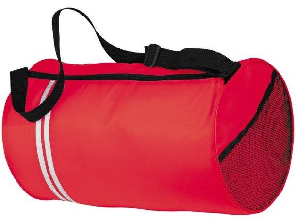 Bolsa de deporte con dos rayas decorativas personalizada roja