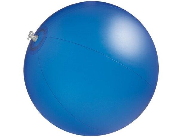 Pelota hinchable de playa 40 cm personalizada azul