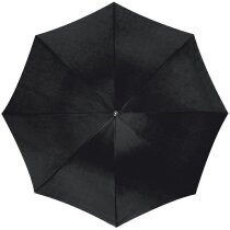 Paraguas con mástil de aluminio curvo personalizado negro