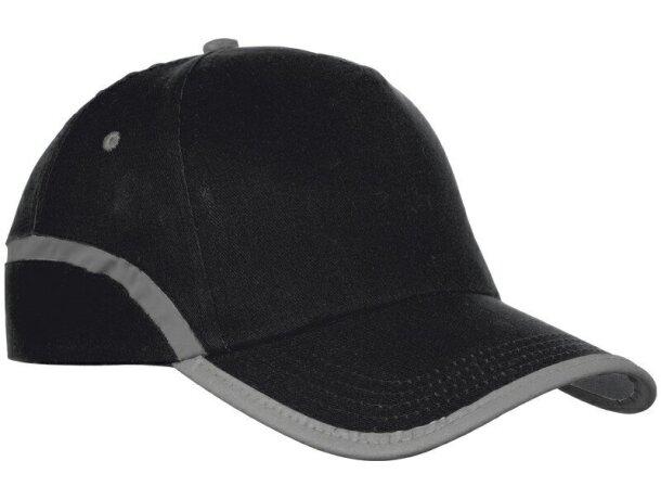 Gorra con borde reflectante personalizada negra