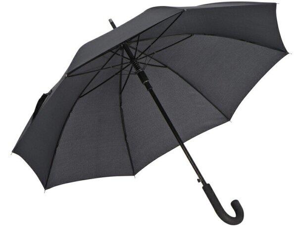 Paraguas con Mastil de Aluminio personalizado negro