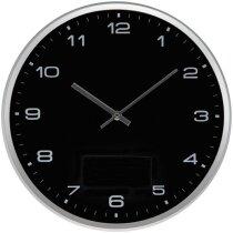 Reloj de pared con base desmontable para personalizar en esfera negra personalizado