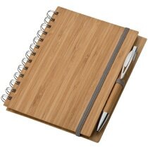 Bloc de Notas con Tapa de Bambú A5 marron