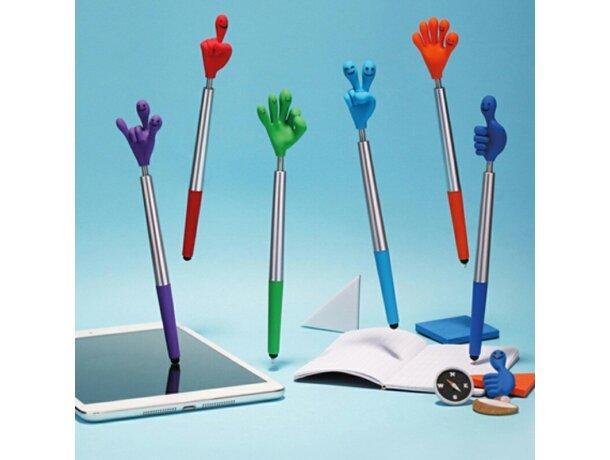 Bolígrafo publicitario con forma de mano flexible personalizado