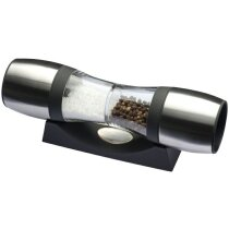 Molino tumbado de sal y pimienta personalizado plata