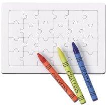 Puzzle para colorear con pinturas