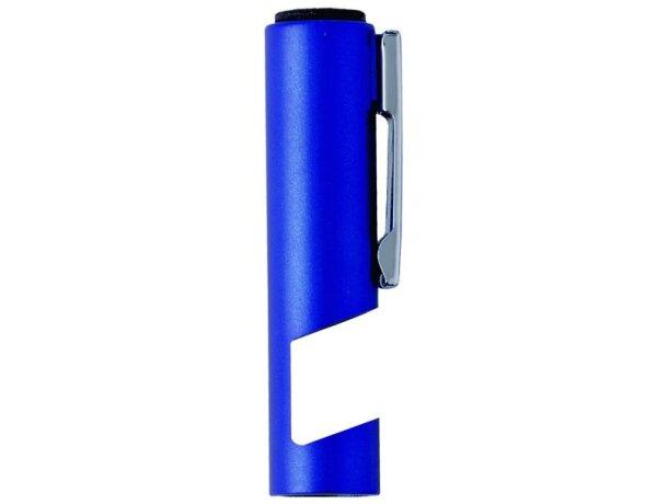 Bolígrafo con 4 funciones en color metalizado