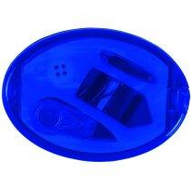 Set de costura ovalado con espejo personalizado azul