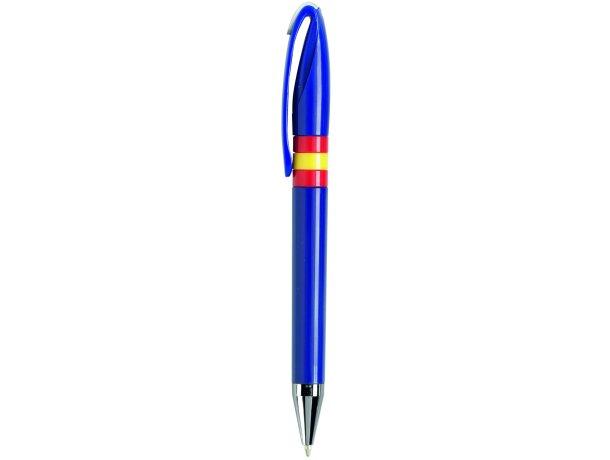 Bolígrafo de colores con banderas personalizado azul