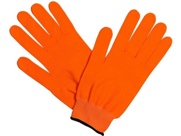 Guantes polares en varios colores naranja