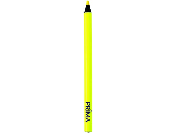Lápiz fluorescente con punta negra amarillo personalizado
