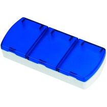 Pastillero con 3 secciones de colores personalizado azul