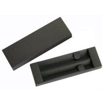 Estuche para dos bolígrafos en cartón negro