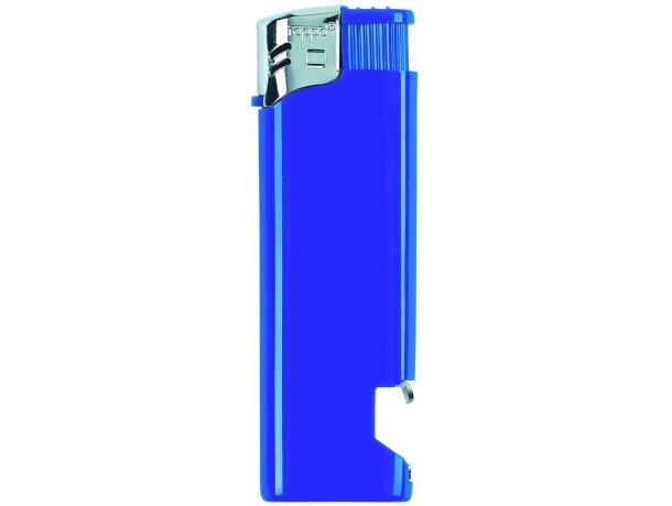 Mechero recargable  modelo abridor en 6 colores opacois barato azul