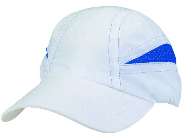 Gorra de microfibra blanca con detalles de color