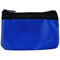 Monedero de nylon en colores personalizado azul