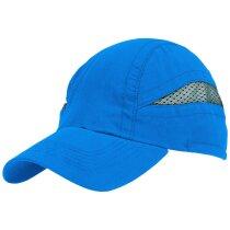 Gorra técnica para hacer deporte de colores llamativos personalizada azul