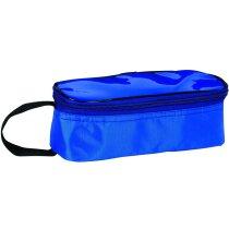 Porta bocadillos de poliéster y pvc personalizado azul