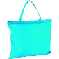 Bolsa playa non woven con cremallera azul claro