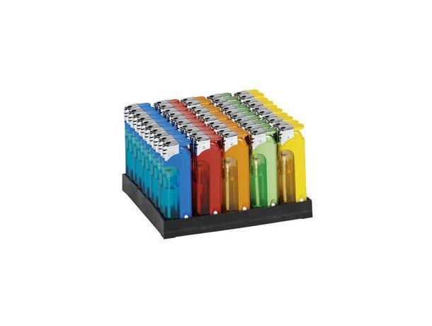 Mechero recargable con luz colores surtidos personalizado