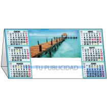 Calendario Sobremesa Semestral Abierto Motivos Estandares personalizado