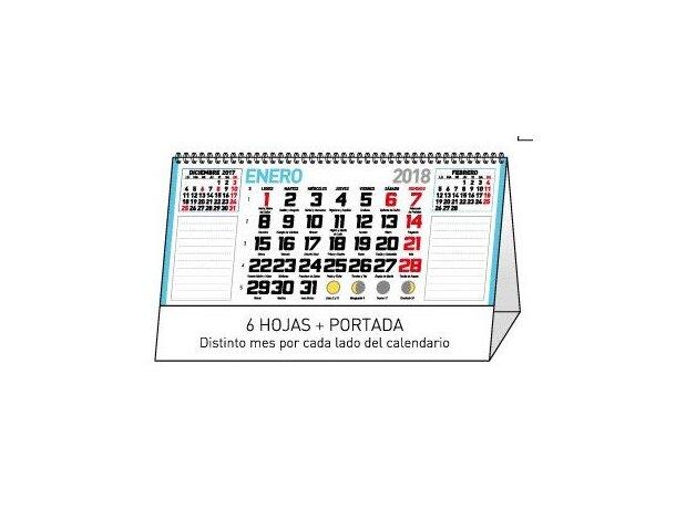 Calendario de sobremesa mensual notas mesa
