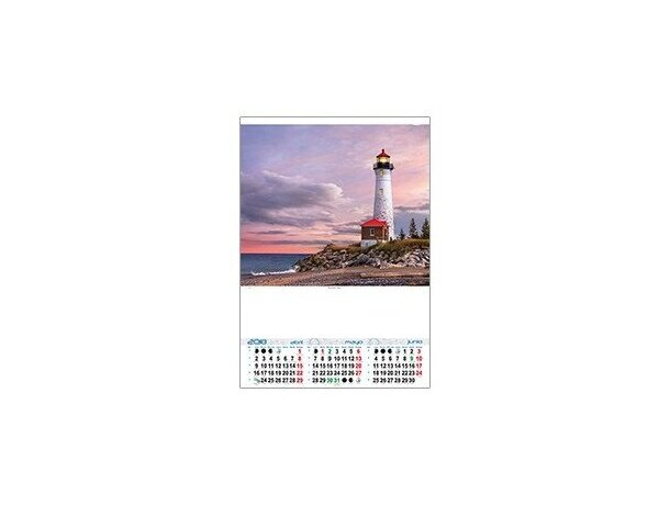 Calendario de pared trimestral motivos estandar personalizado