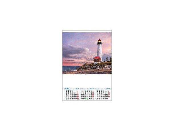 Calendario de pared trimestral motivos estandar personalizados