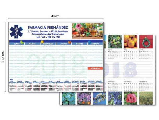 Calendario de pared tipo poster con foto