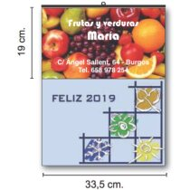 Calendarios De Pared Cartela Couché Brillo personalizados