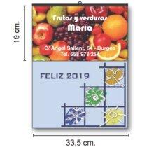 Calendarios De Pared Cartela Couché Brillo