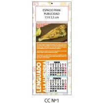 Calendario de cocina con recetas estandar