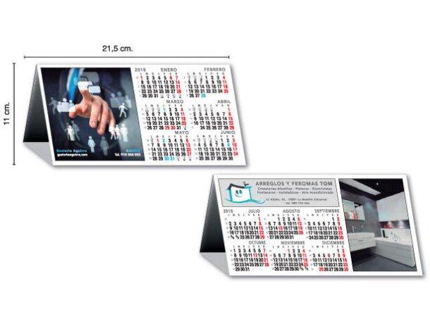 Calendario de mesa personalizado semestral a todo color