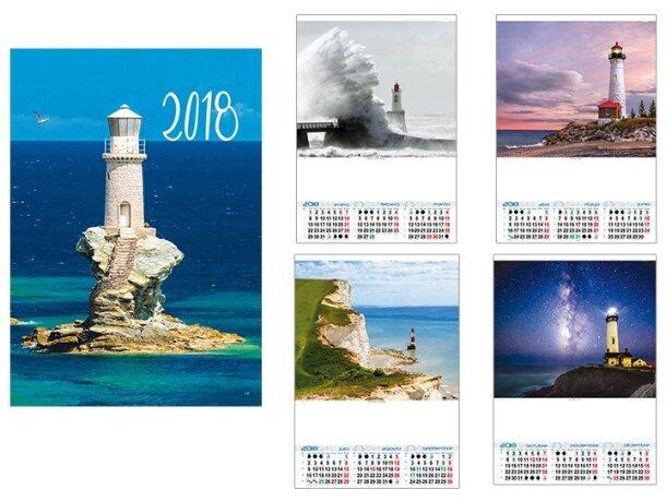 Calendario de pared trimestral motivos estandar