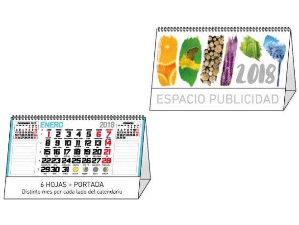 Calendario de sobremesa mensual notas