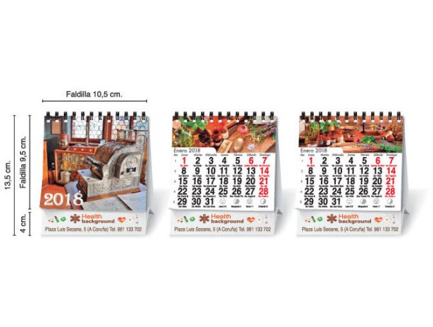 Calendario de sobremesa 13 hojas a todo color