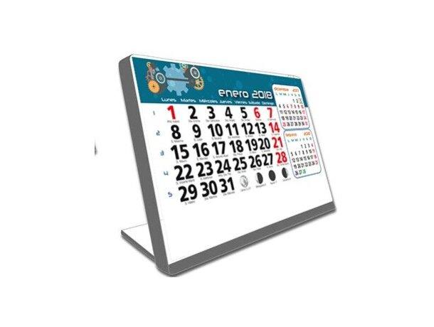 Calendario de mesa con soporte de plástico motivos estandar de sobremesa