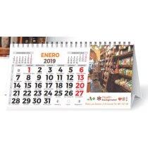 Calendario De Mesa Wire-o 7 Hojas Con Foto con foto